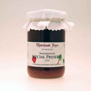 Strawberry & Rhubarb Jam with Elderflower