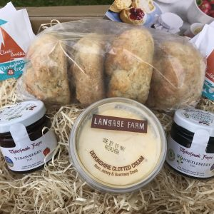 FOUR SCONE CREAM TEA - A CHOICE OF JAMS